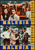 "Movie Posters:Adventure, Malaya (Variety Film, 1951). Italian Photobusta Set of 10 (19"" X26.5""). Adventure.. ... (Total: 10 Items)"