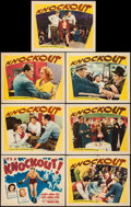 """Movie Posters:Sports, Knockout (Warner Brothers, 1941). Title Lobby Card & Lobby Cards (6) (11"""" X 14""""). Sports.. ... (Total: 7 Items)"""
