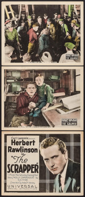 "The Scrapper (Universal, 1922). Title Lobby Card & Lobby Cards (2) (11"" X 14""). Drama. ... (Total: 3 I..."