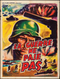 "Movie Posters:Documentary, On Both Sides of the Rollway (Les Films Corona, 1953). French Grande (47"" X 63""). World War II Documentary.. ..."