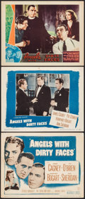 "Movie Posters:Crime, Angels with Dirty Faces (Warner Brothers, 1938/R-1948). Other Company Lobby Card, Title Lobby Card & Lobby Card (11"" X 14"").... (Total: 3 Items)"