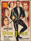 "Movie Posters:Swashbuckler, The Adventures of Don Juan (Prodis, R-1960s). French Grande (47"" X 63""). Swashbuckler.. ..."