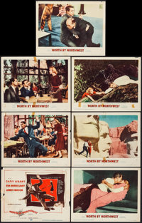 """North by Northwest (MGM, 1959). Title Lobby Card & Lobby Cards (6) (11"""" X 14""""). Hitchcock. ... (Total:..."""