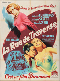 """Paid in Full (Paramount, 1950). French Grande (47"""" X 63""""). Drama"""