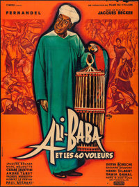 "Ali Baba and the Forty Thieves (Cinedis, 1954). French Grande (45"" X 61""). Foreign"