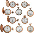 Timepieces:Pocket (post 1900), A Lot Of Ten Gold Filled Pocket Watches. ... (Total: 10 Items)
