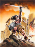 Original Comic Art:Covers, Mike Deodato Conan o Barbaro #165 Cover Original Art(Marvel/Brazilian, c. 1990s)....