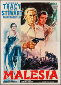 "Movie Posters:Adventure, Malaya (Variety Films, 1951). Italian 4 - Fogli (55.25"" X 78"").Adventure.. ..."