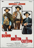 "Movie Posters:Western, The Good, the Bad and the Ugly (PEA/Titanus, R-1972). Italian 4 - Fogli (55.25"" X 78""). Western.. ..."