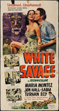 "Movie Posters:Adventure, White Savage (Realart, R-1949). Three Sheet (41"" X 79"").Adventure.. ..."