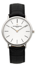 Timepieces:Wristwatch, Vacheron Constantin White Gold Gent's Patrimony Wristwatch. ...