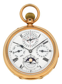 T. Boxell, Brighton, Very Fine & Rare Half Quarter Hour Repeater With Perpetual Calendar, Moon Phases & Lunar Ca...
