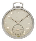 Timepieces:Pocket (post 1900), Elgin Very Fine Platinum C.H. Hulburd, circa 1926. ...