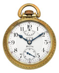 Timepieces:Pocket (post 1900), Waltham Rare 23 Jewel Riverside Maximus With Wind Indicator, circa1920. ...