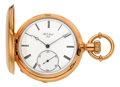 Timepieces:Pocket (pre 1900) , H.L. Matile Locle First Quality Gold Hunters Case, circa 1880's....