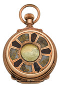 Timepieces:Pocket (pre 1900) , Waltham Gold In Quartz Box Hinge Pocket Watch, circa 1884. ...
