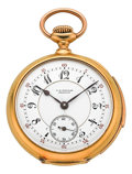 Timepieces:Pocket (post 1900), C.H. Meylan Brassus Rare Miniature Gold Minute Repeater, circa 1905. ...