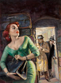 Mainstream Illustration, American Artist (20th Century). The Case of the Violent Virgin,paperback cover, 1956. Oil on board. 22 x 16.25 in. (sig...(Total: 2 Items)