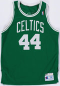 Basketball Collectibles:Uniforms, 1990-91 Rick Fox Game Worn Boston Celtics Jersey....