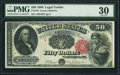 Large Size:Legal Tender Notes, Fr. 164 $50 1880 Legal Tender PMG Very Fine 30.. ...