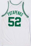 Basketball Collectibles:Uniforms, 1999 Vitaly Potapenko Game Worn, Signed Boston Celtics Jersey....