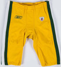 Football Collectibles:Uniforms, 2000's Green Bay Packers Game Worn Pants....