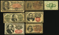 Fractional Currency:First Issue, Fractional Septuplet Good-Very Good or Better.. ... (Total: 7 notes)