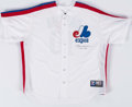 Baseball Collectibles:Uniforms, Andre Dawson Signed Montreal Expos Jersey....