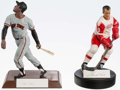 Miscellaneous Collectibles:General, Willie Mays and Gordie Howe Signed Statues (2)....