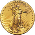 High Relief Double Eagles, 1907 $20 High Relief, Wire Rim -- Cleaning -- PCGS Genuine. AU Details....