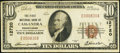 National Bank Notes:Pennsylvania, Cassandra, PA - $10 1929 Ty. 1 The First NB Ch. # 12720. ...