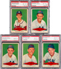 Baseball Cards:Lots, 1954 Red Heart Dog Food PSA Graded Collection (5). ...