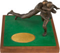 Football Collectibles:Others, 1970 TV Guide All-Pro Team Trophy Presented to Larry Brown....
