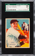 Baseball Cards:Singles (1930-1939), 1934-36 Diamond Stars Zeke Bonura, 1935 #65 SGC 96 Mint 9 - PopOne, None Higher! ...