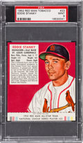Baseball Cards:Singles (1950-1959), 1952 Red Man Eddie Stanky #23 PSA Mint 9 - Pop Three, None Higher. ...