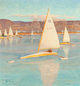 John Ford Clymer (American, 1907-1989) Ice Boating, Saturday Evening Post cover, November 28, 1959 Oil on board 30 x
