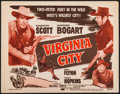 "Movie Posters:Western, Virginia City (Dominant, R-1956). Title Lobby Card (11"" X 14""). Western.. ..."