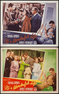 """Movie Posters:Fantasy, It's a Wonderful Life (RKO, 1946 & M and Alexander, R-1955).Lobby Cards (2) (11"""" X 14""""). Fantasy.. ... (Total: 2 Items)"""