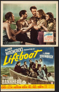 """Movie Posters:Hitchcock, Lifeboat (20th Century Fox, 1944). Trimmed Title Lobby Card (10.5"""" X 13"""") & Lobby Card (11"""" X 14""""). Hitchcock.. ... (Total: 2 Items)"""