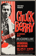 "Movie Posters:Rock and Roll, Chuck Berry at The Memorial Coliseum (Northwest Releasing, 1970s).Concert Window Card (14"" X 22""). Rock and Roll.. ..."