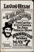 "Movie Posters:Rock and Roll, Levon Helm and the RCO All-Stars at Armadillo (M.Priest, 1978).Concert Poster (11.5"" X 17.5""). Rock and Roll.. ..."