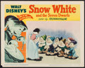 """Movie Posters:Animation, Snow White and the Seven Dwarfs (RKO, R-1951). Lobby Card (11"""" X 14""""). Animation.. ..."""