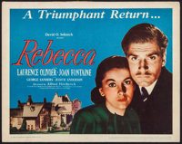 "Rebecca (United Artists, R-1946). Title Lobby Card (11"" X 14""). Hitchcock"