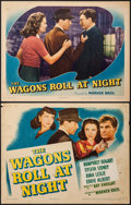 "Movie Posters:Drama, The Wagons Roll at Night (Warner Brothers, 1941). Title Lobby Card& Lobby Card (11"" X 14""). Drama.. ... (Total: 2 Items)"