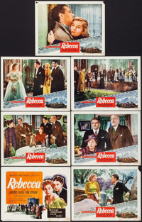 "Rebecca (Selznick, R-Early 1950s). International Title Lobby Card & Lobby Cards (6) (11"" X 14""). Hitchcock..."