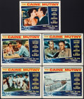 "Movie Posters:War, The Caine Mutiny (Columbia, 1954). Lobby Cards (5) (11"" X 14"").War.. ... (Total: 5 Items)"