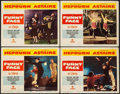 "Movie Posters:Romance, Funny Face (Paramount, 1957). Lobby Cards (4) (11"" X 14""). Romance.. ... (Total: 4 Items)"