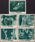 "Movie Posters:Crime, Little Caesar (Warner Brothers, R-1954). Lobby Cards (5) (11"" X14""). Crime.. ... (Total: 5 Items)"
