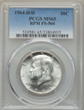 Kennedy Half Dollars, 1964-D/D 50C Repunched Mintmark, FS-504 MS65 PCGS. PCGS Population:(15/5). Mintage 156,205,440....