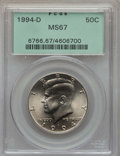 Kennedy Half Dollars, 1994-D 50C MS67 PCGS. PCGS Population: (56/1). NGC Census: (31/3)....